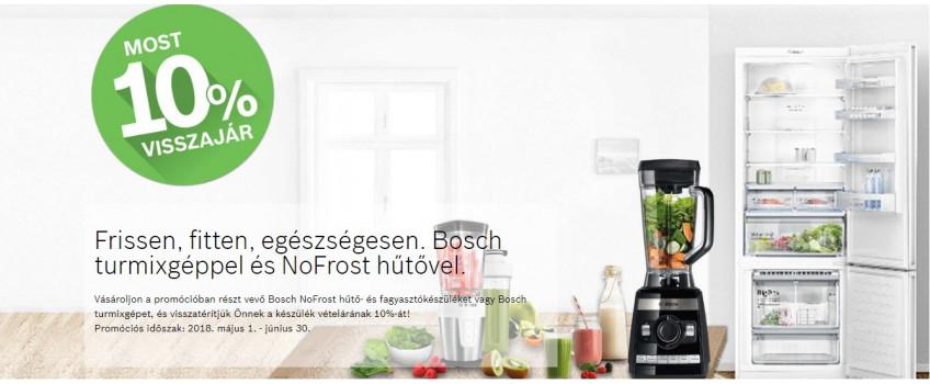 Bosch turmix, hűtő promo május